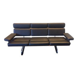 Black Charles Eames Sofa by Herman Miller