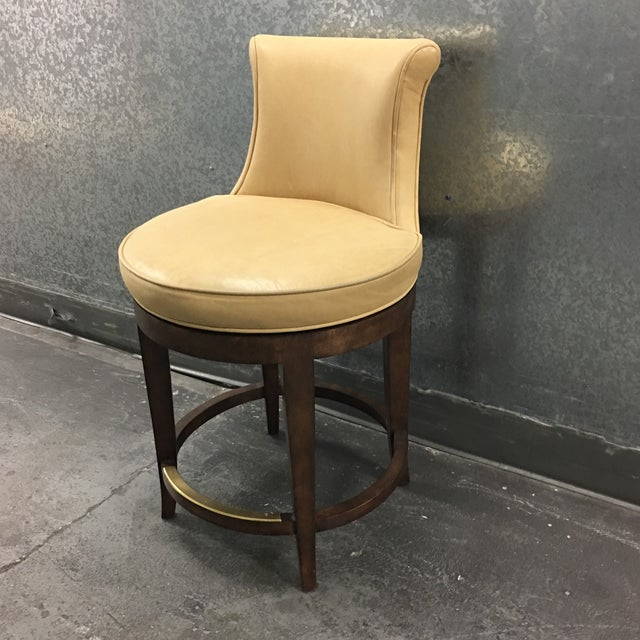 New Pearson Savannah Leather Swivel Counter Stool - Image 3 of 7