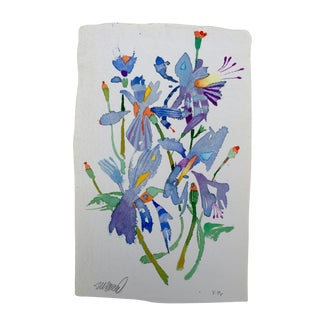 """""""Butterfly Lilies 1"""" Watercolor Painting"""