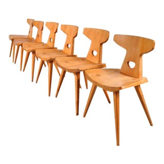 Set of Six Dining Chairs by Jacob Kielland-Brandt for I. Christiansen circa 1960