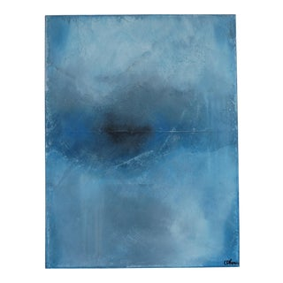 Memory, Blue, II. 2017 Original Oil on Panel by C. Damien Fox