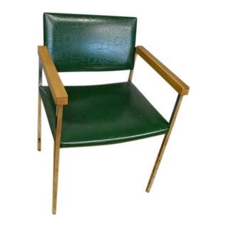 Thonet Mid-Century Chrome & Maple Dining Chair