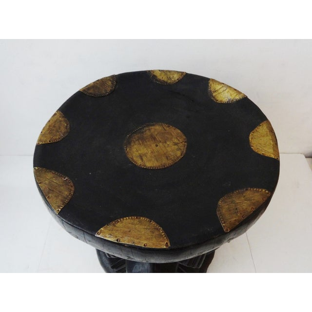 African Bamun Stool With Copper Work - Image 8 of 8