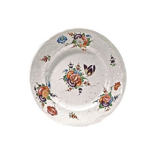 Floral Antique Bone China Plate