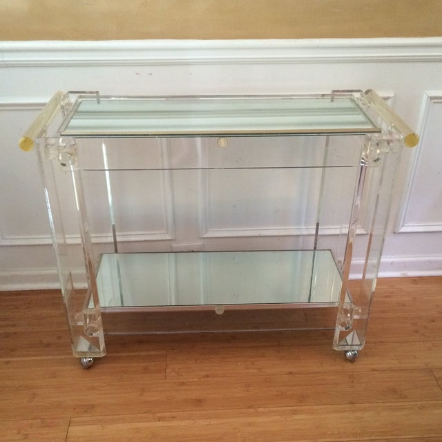 Lucite Bar Cart Attributed to Hollis Jones - Image 4 of 7
