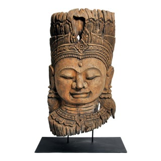 Southeast Asian Reclaimed Tree Carving of a Goddess