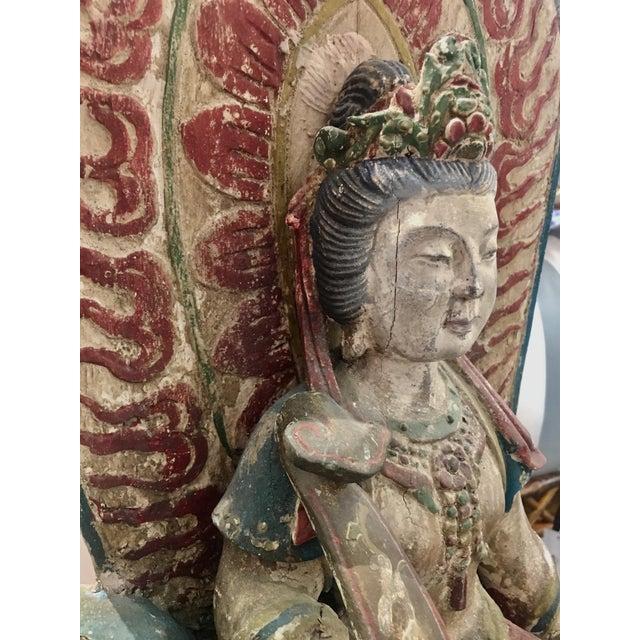 Antique Quan Yin on Elephant - Image 4 of 8
