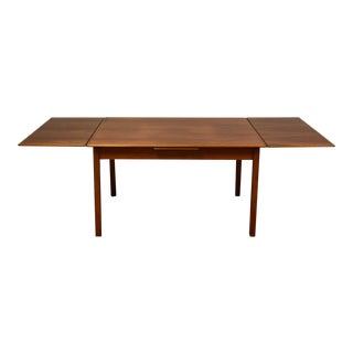 Small Teak Draw Leaf Dining Table