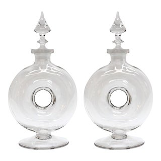 Art Deco Donut Decanters - A Pair