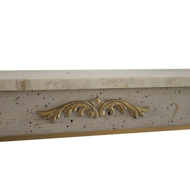 Image of Silver & Gold Gilt Console With Marble Top