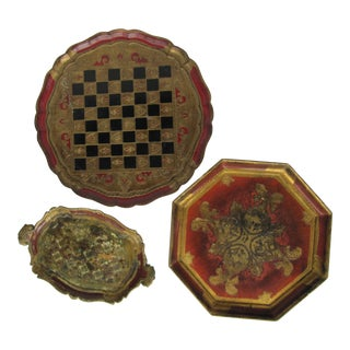 Vintage Florentine Trays-3 Pieces