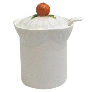 English Marmelade Pot & Spoon - Set of 3
