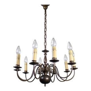 Dutch Colonial Ten-Light Fixture, circa 1940s