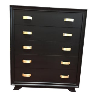 Leo Black Dresser With Brass Detail
