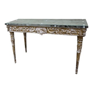 Italian Baroque Style Giltwood Console with Mirrored Top