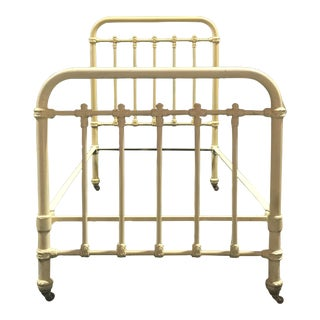 Antique Wrought Iron Twin Bed