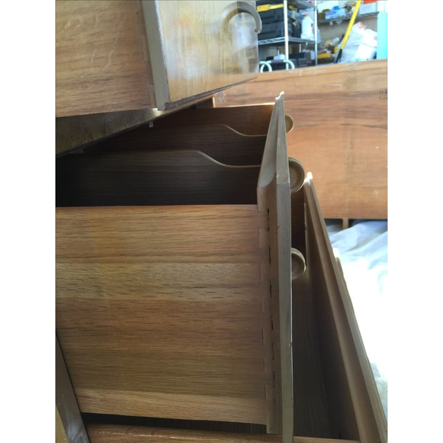 1950s Birdseye Maple Tallboy Dresser - Image 4 of 9
