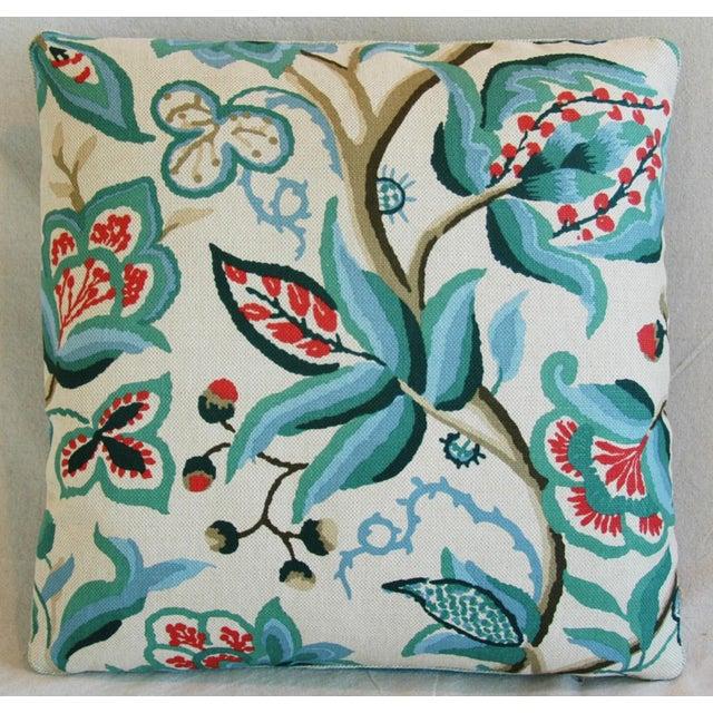 Schumacher Alexandra Floral Velvet Pillows - a Pair - Image 3 of 10