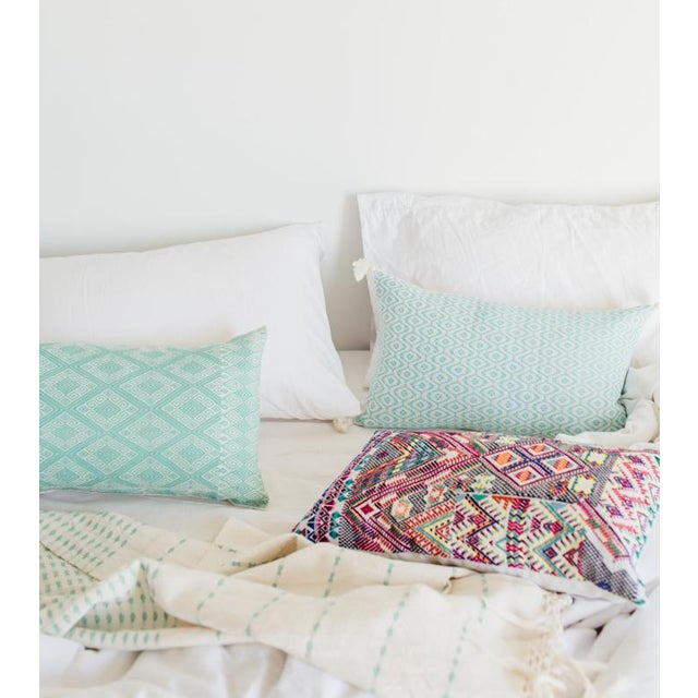 Image of Mexican Mint Diamond Brocaded Pillow