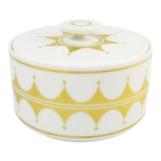 White & Gold Modernist Porcelain Box