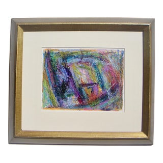 Framed Abstract Expressionism Painting