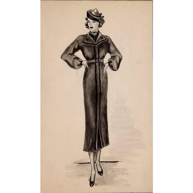 Winter Fashion Sketch - Image 3 of 5