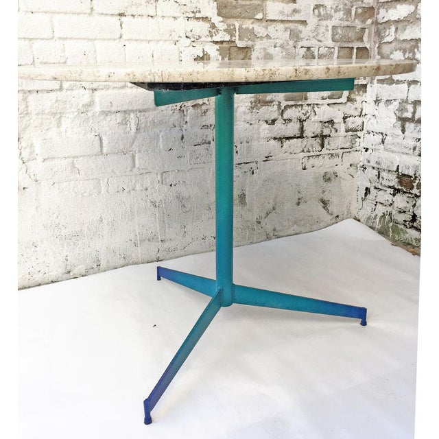 Vintage Travertine Ombre Table - Image 3 of 7