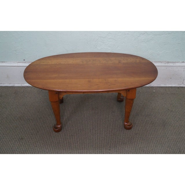 Stickley Solid Cherry Queen Anne Coffee Table - Image 2 of 10