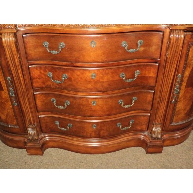 Chippendale-Style Marble Top Buffet - Image 3 of 5