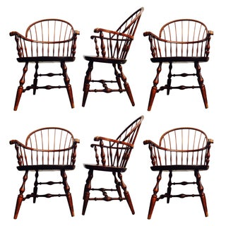Vintage Windsor Sack Back Chairs - Set of 6