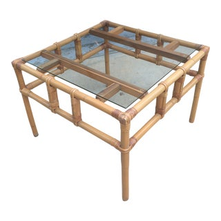 Ficks Reed Bamboo Side Table