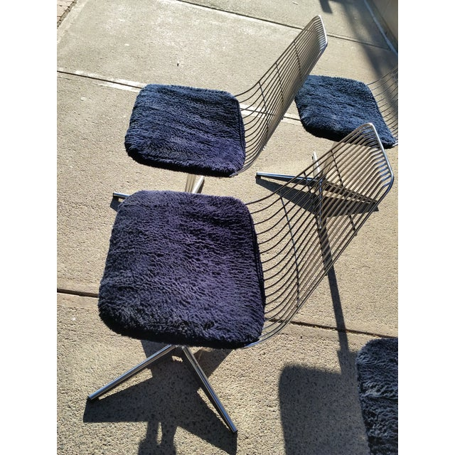 Blue Chromcraft Modern Chairs - Set of 4 - Image 5 of 8