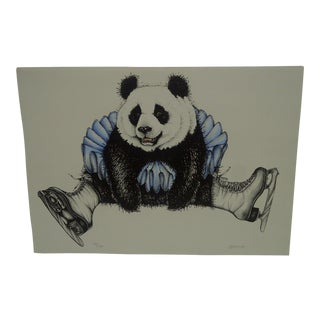 "Limited Edition Signed Print ""Panda Skater"" by Stevens"