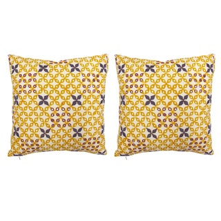 Seema Krish Sona Gold Mahalaxmi Pillows - A Pair