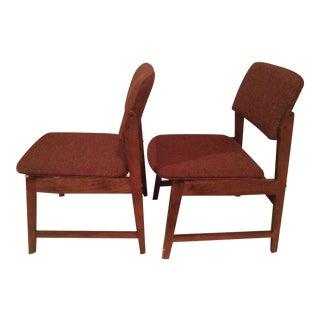 Vintage Hon Murphy Miller Tweed Chairs - A Pair
