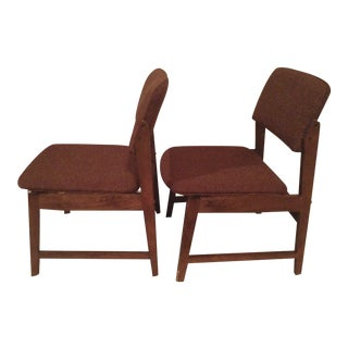 Vintage Hon Murphy Miller Tweed Chairs - A Pair