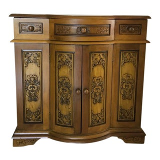 Decoratively Carved Cabinet
