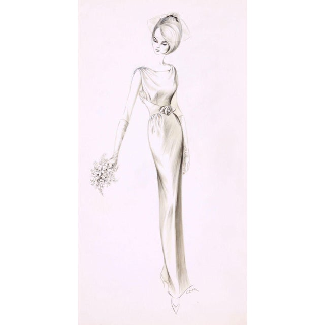 Vintage Fashion Sketch by Charlotte Cooper - Image 1 of 3