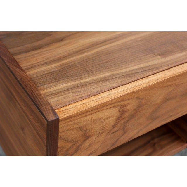 Mid-Century American Walnut Nightstands - A Pair - Image 8 of 10