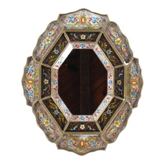 Hand-Painted Peruvian Wall Mirror