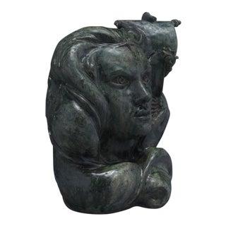 Andre Rozay Unique Signed Ceramic Head, France, 1947