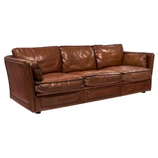 French Buffalo Leather Hermes Style Sofa