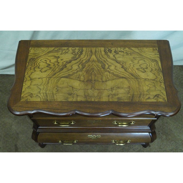 Baker Furniture Burl Wood & Walnut Bombe Chest - Image 8 of 10