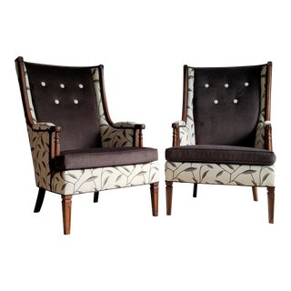Mission Style Wingback Pair