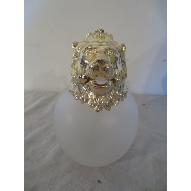 Vintage Carol Stupell Pitcher with Brass Lion - Image 4 of 7