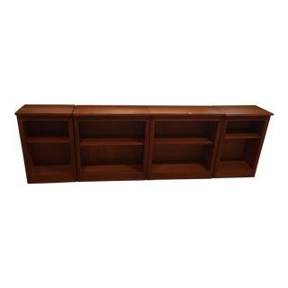 Crate & Barrel Low Bookcases - Set of 4