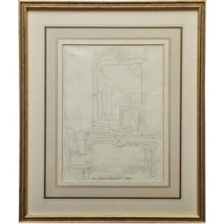 'Table & Mirror' by Cecil Beaton Drawing