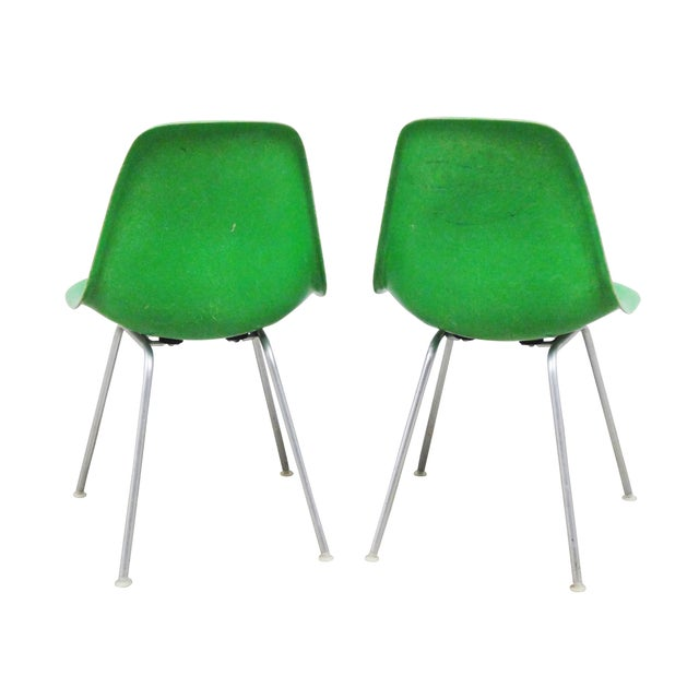 Image of Herman Miller Eames Side Shell Chairs - Pair