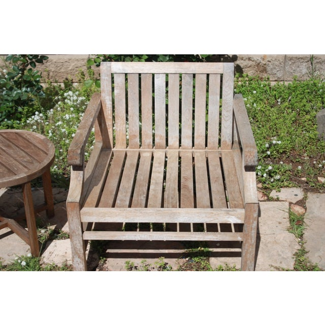 Teak Wood Patio Set - 8 Piece Set - Image 7 of 8