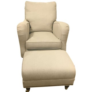 Hickory Chair Lowell Lounge Chair & Ottoman Set